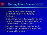 the regulatory framework 2