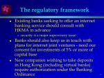 the regulatory framework