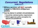concurrent negotiations samm c4 5 11
