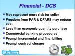 financial dcs