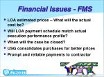 financial issues fms