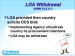 loa withdrawal samm c4 5 11 1