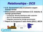 relationships dcs