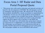 focus area 1 hf radar and data portal proposal quote1