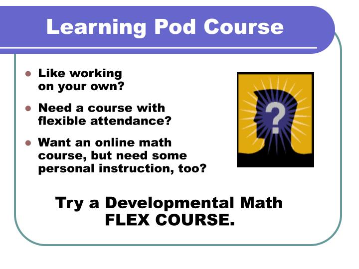 learning pod course n.