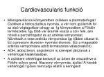 cardiovascularis funkci