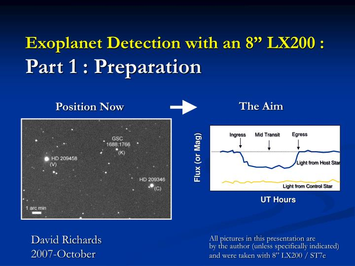 exoplanet detection with an 8 lx200 part 1 preparation n.