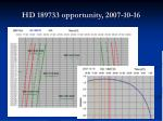 hd 189733 opportunity 2007 10 16