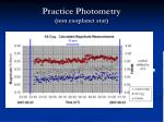 practice photometry non exoplanet star