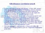 edit distance correlation attack1