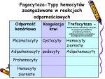 fagocytoza typy hemocyt w zaanga owane w reakcjach odporno ciowych