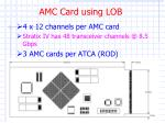 amc card using lob1