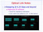 optical link notes1