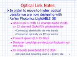 optical link notes4