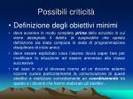 possibili criticit