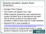 dynamic simulation system event 07 04 2012