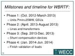 millstones and timeline for wbrtf2