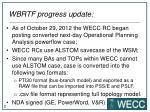 wbrtf progress update