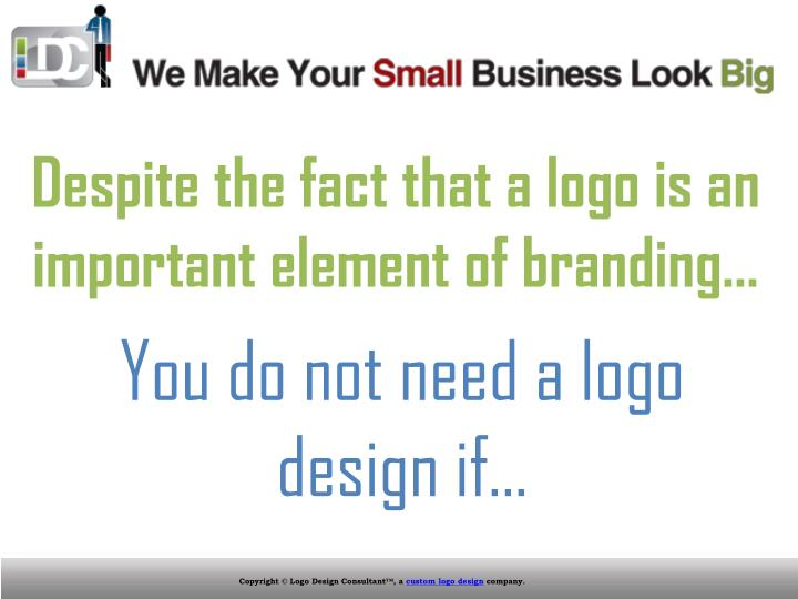 Despite the fact that a logo is an important element of branding…