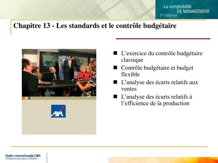 Chapitre 13 les standards et le contr le budg taire