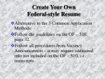 create your own federal style resume