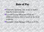 rate of pay