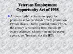 veterans employment opportunity act of 1998