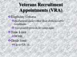 veterans recruitment appointments vra