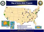 map of entire brac program