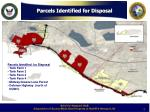 parcels identified for disposal
