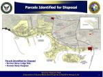 parcels identified for disposal1