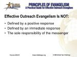 effective outreach evangelism is not
