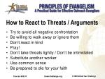 how to react to threats arguments