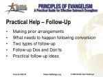 practical help follow up