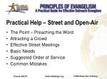 practical help street and open air