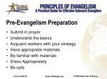 pre evangelism preparation