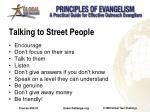 talking to street people