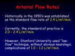 arterial flow rates3
