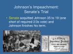 johnson s impeachment senate s trial