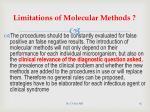 limitations of molecular methods42
