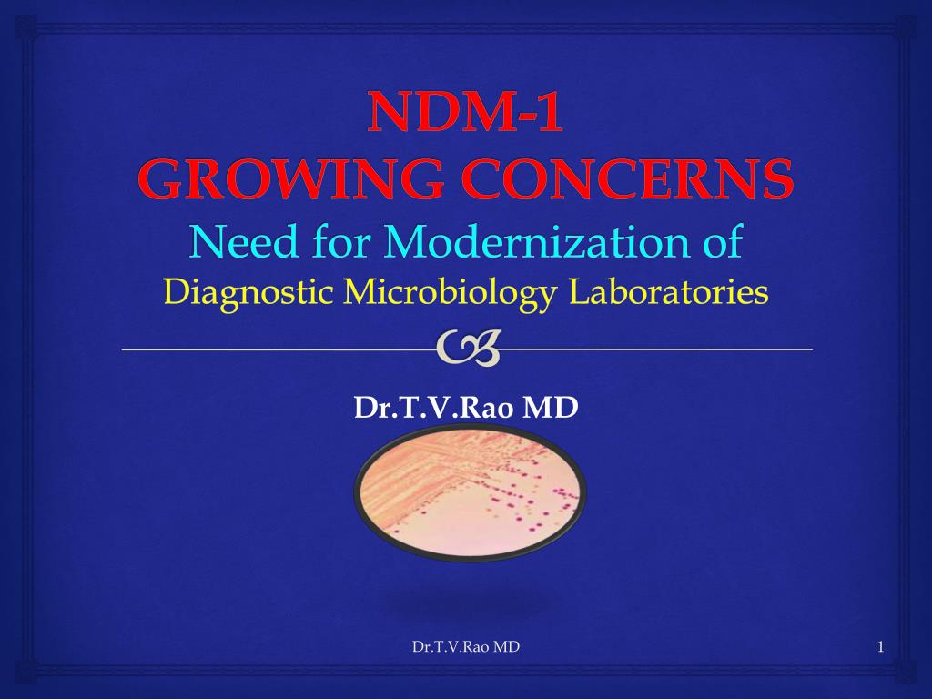 ndm 1 growing concerns need for modernization of diagnostic microbiology laboratories l.