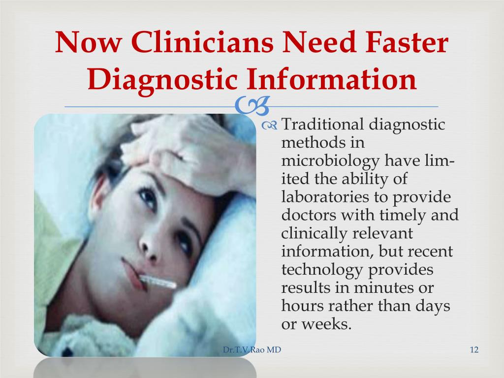 Now Clinicians Need Faster Diagnostic Information