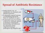 spread of antibiotic resistance