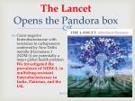 the lancet opens the pandora box