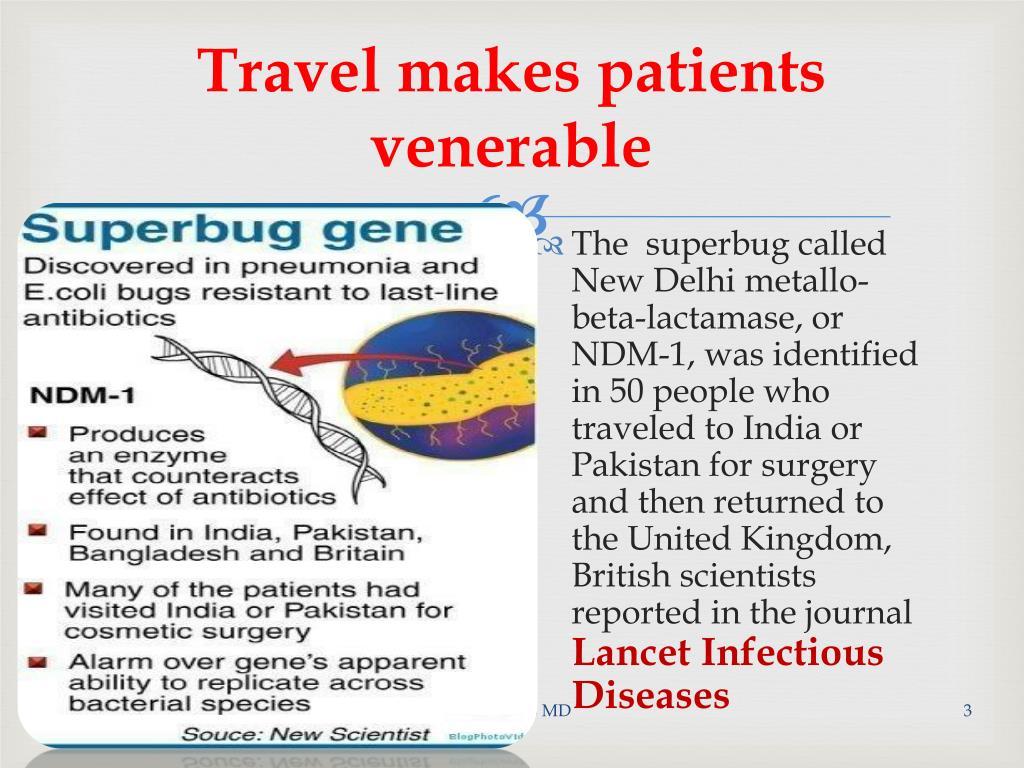 Travel makes patients venerable