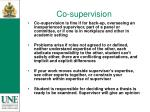 co supervision