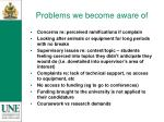 problems we become aware of