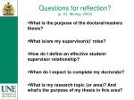 questions for reflection p 63 murray 2002