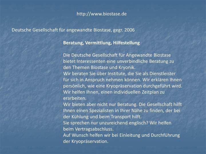 http://www.biostase.de