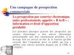 une campagne de prospection commerciale6